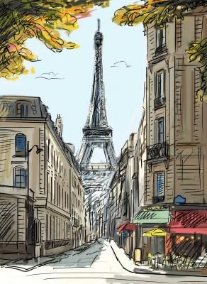 Paryskie uliczki z widokiem - GR259