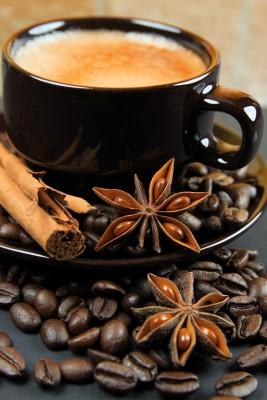 Spieniona kawa z goździkami - JN350