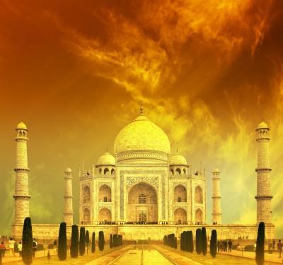 Tadź Mahal w żółtym kolorze - AM465