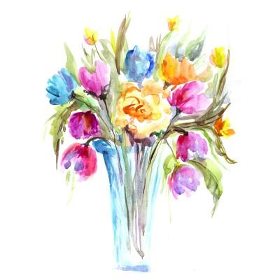 Wazonik z kwiatami - GR446