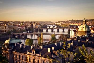 Wschód słońca nad Pragą - AM545