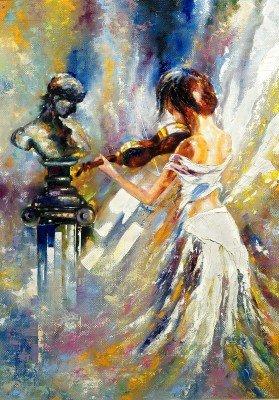 Biała dama i skrzypce - GR368