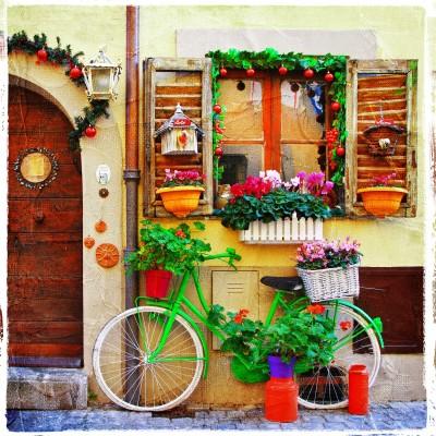 Front domku we włoskim miasteczku - AM680