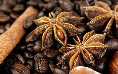 Goździkowe kwiaty z kawą - JN275
