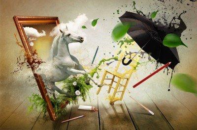 Koń prawie pod parasolem - GR119