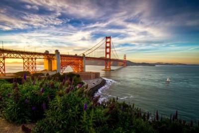 Most Golden Gate o zachodzie słońca - AM332