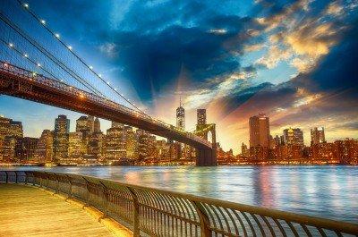 Most w Nowym Jorku o zmierzchu - AM754