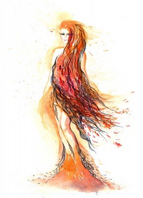 Suknia z włosów - GR445