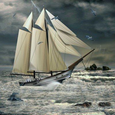 Walka okrętu z falami - GR308