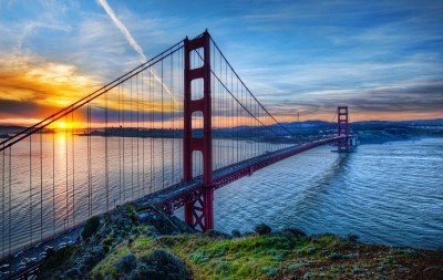 Wschód słońca nad mostem Golden Gate - AM539