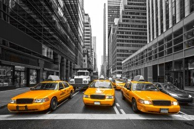 Żółte taksówki na Manhattanie - TM220